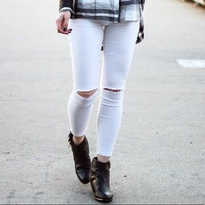 TopShop Moto Leigh destroyed skinny jeans
